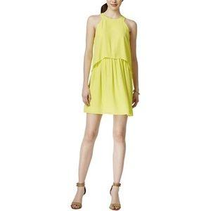 Bar III Electric Citron Cutout Popover Dress NWT